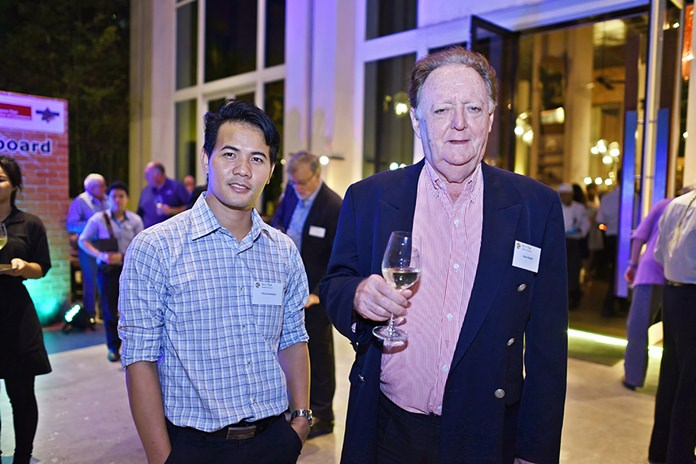 Pasit Foobunma, director and web master, and Allan Riddell, consultant to the board at SATCC.