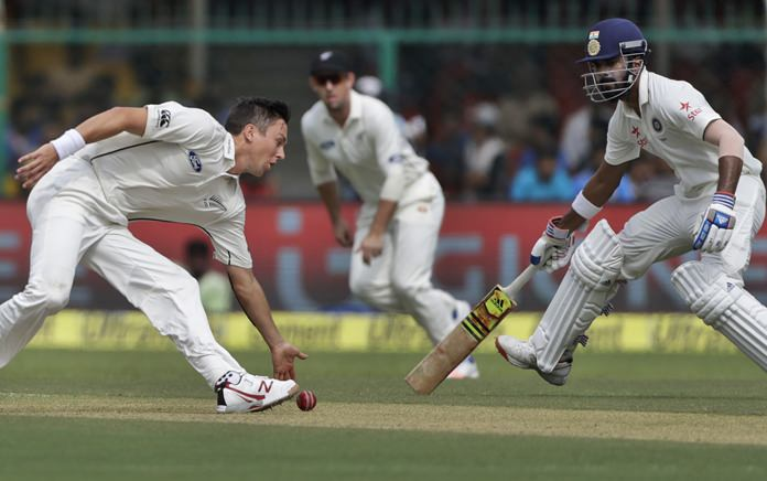 New Zealand bowlers dominate Day 1 of India's 500th Test