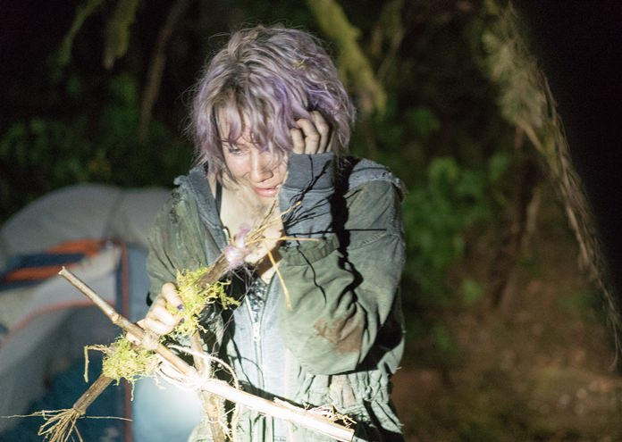 "Valorie Curry is shown in a scene from ""Blair Witch."" (Chris Helcermanas-Benge/Lionsgate via AP)"