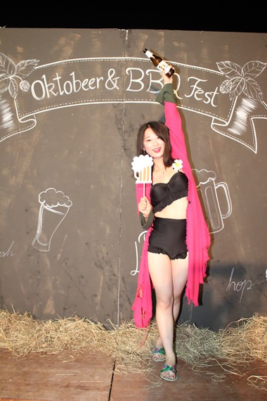 Crowned Queen of the Oktobeer & BBQ Fest on opening night.