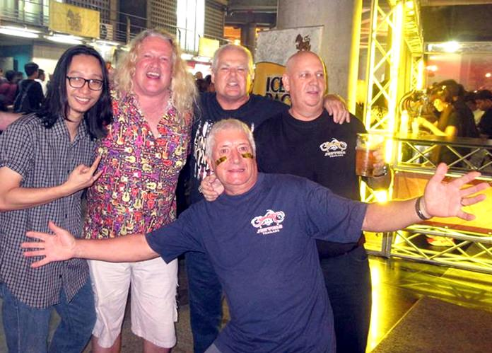Mott the Dog and his pack of Pattaya rockers enjoy the Queen concert in Bangkok.