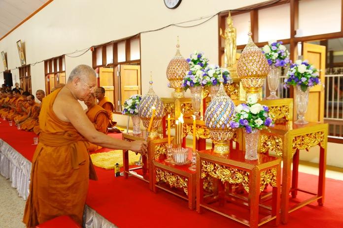Tassanee Khunkorn, abbot of Sattahip Temple, led the Oct. 14 ceremony.