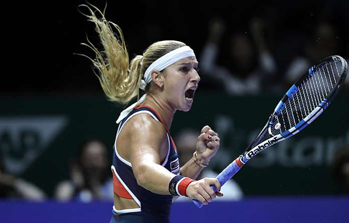 Hot-serving Cibulkova revels in stunning revenge over Kerber