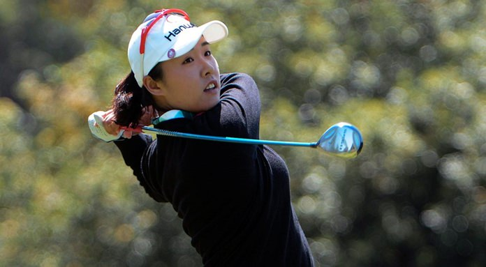 MJ Hur birdies 18th to take LPGA lead in China