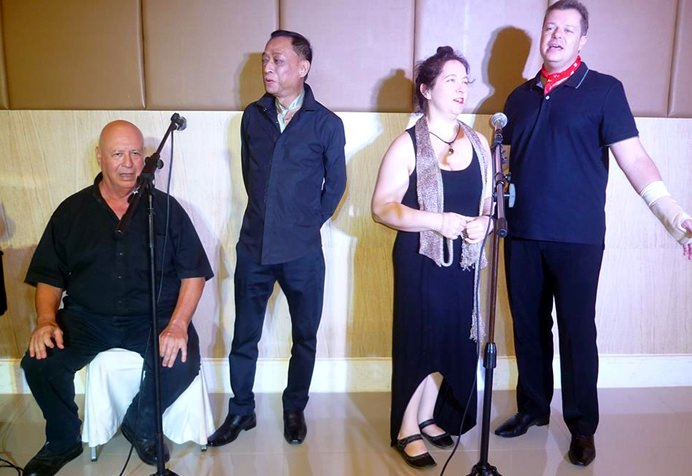 "Actors from Pattaya Players perform ""Songs & Legends"" at the Eastern Grand Palace Hotel."