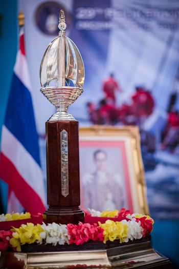 The beautifully crafted Phuket King's Cup Regatta trophy.
