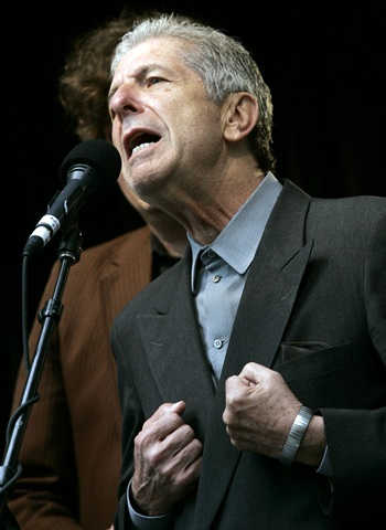 Leonard Cohen is shown performing in this May 13, 2006, file photo. (Nathan Denette/The Canadian Press via AP)