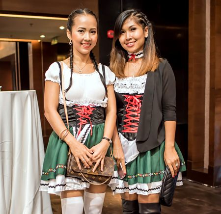 These Oktoberfest revellers dressed to impress.
