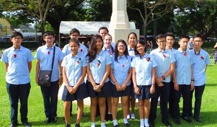 Students from Regents Pattaya.
