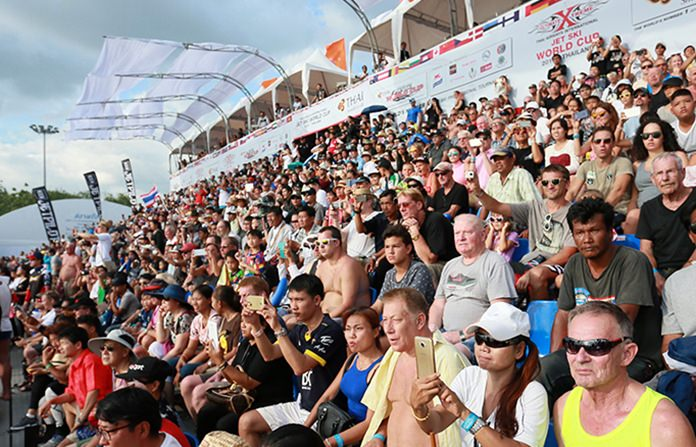 Sports lovers turned out in force at Jomtien Beach to enjoy the 3-day event.