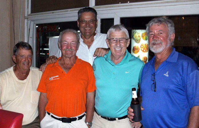 (Left to right) Don Lehmer, John Dearden, Terry Mangan, Geoff Bracegirdle with Barry Tregurtha at the back.