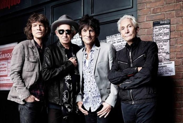 The Rolling Stones (left-right) Mick Jagger, Keith Richards, Ronnie Wood and Charlie Watts.