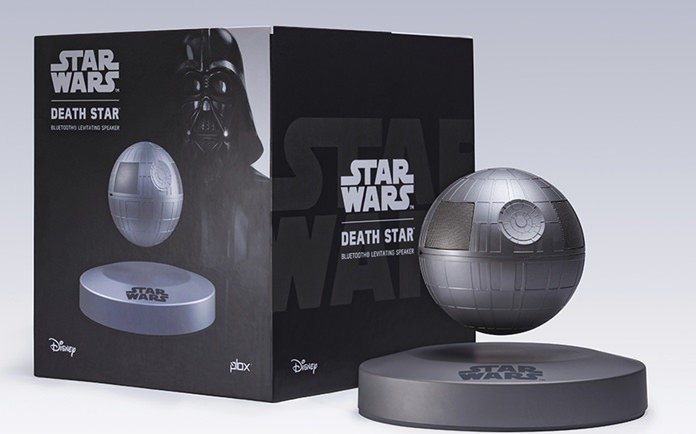"This photo provided by Plox shows the ""Star Wars"" Death Star levitating bluetooth speaker. (Courtesy of Plox via AP)"