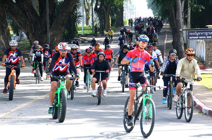 Cyclists turned out in their thousands to honor HM the late King.