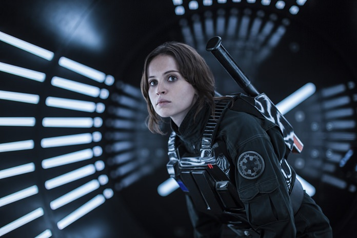 "This image shows Felicity Jones as Jyn Erso in a scene from, ""Rogue One: A Star Wars Story."" (Jonathan Olley/Lucasfilm Ltd. via AP)"