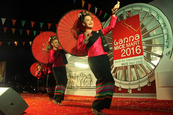 The Lanna MICE Mart was opened by traditional Lanna performances.