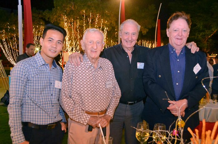 Pasit Foobunma, director and webmaster at SATCC, Archie Dunlop, Dr. Iain Corness and Allan Riddell, Consultant to the board at SATCC.