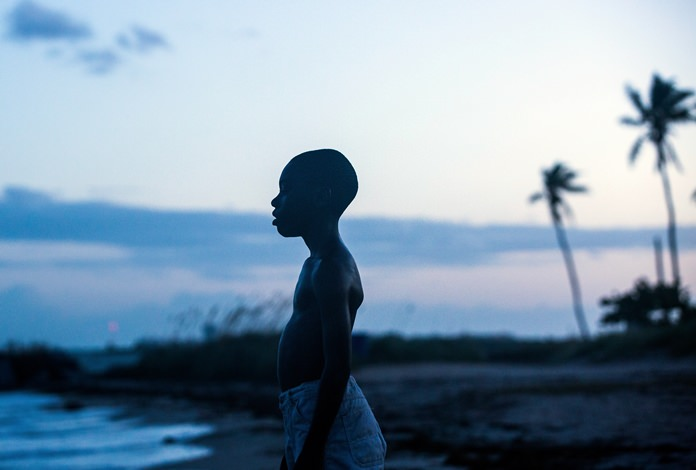 "Alex Hibbert is shown in a scene from the film, ""Moonlight."" (David Bornfriend/A24 via AP)"