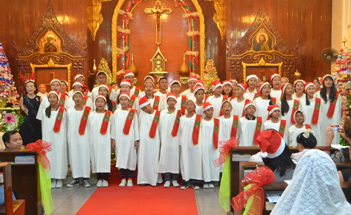 The Children's Choir sings beautiful hymns at St. Nikolaus Church.