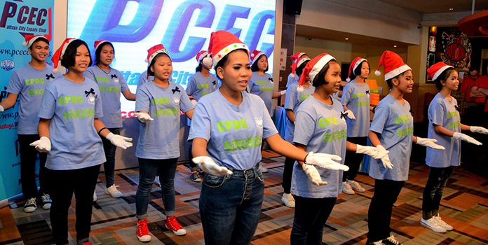 The PCEC enjoyed the singing from the CPDC children, all wearing large white gloves which they used to great effect.
