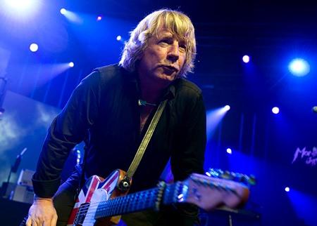 Status Quo guitarist Rick Parfitt. (AP Photo/Martial Trezzin)
