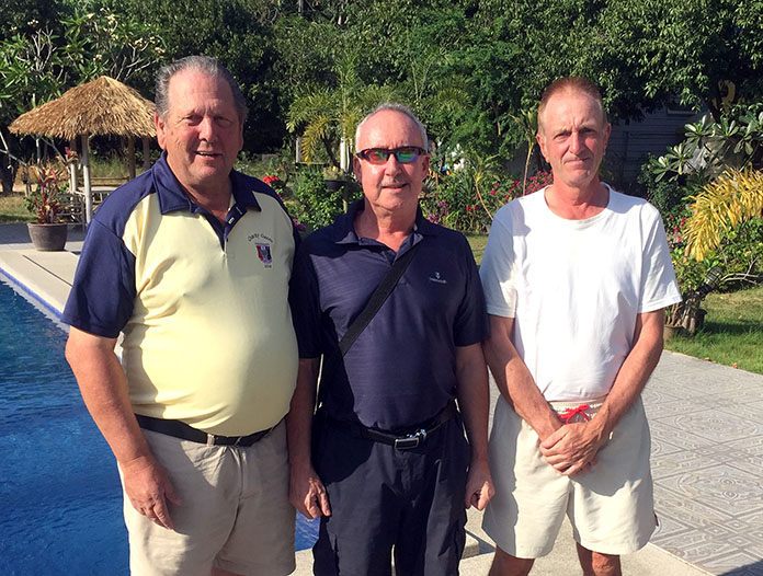 (L-R) George Gamble with Stuart Banks and Dave Maw.