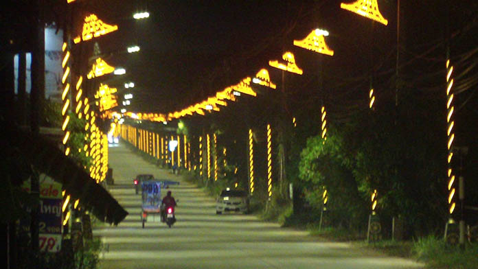 The new Pattanakarn Road opened for New Year.
