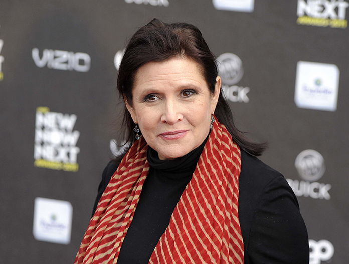 Actress Carrie Fisher is shown in this April 7, 2011 file photo. (AP Photo/Chris Pizzello)