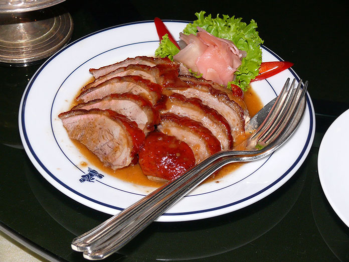 The mouth-watering Chinese duck.