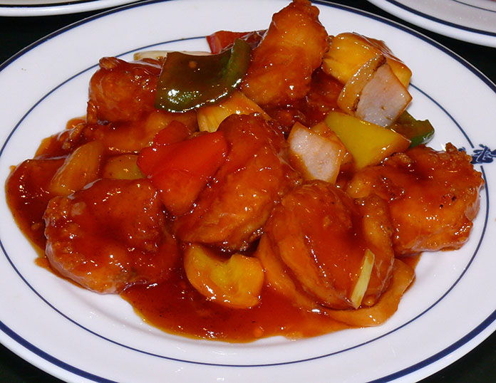 Delicious Sweet and sour prawns.