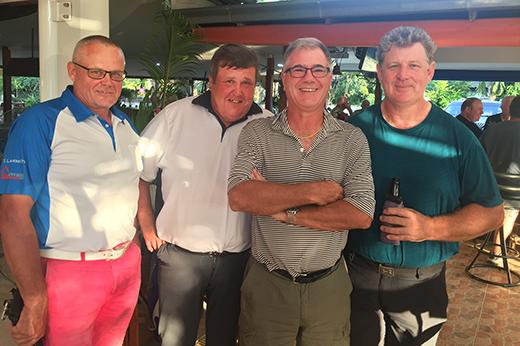 (From left) Seppo Kontio with Harri Tervo, Kim Danboise and Keith Allen.