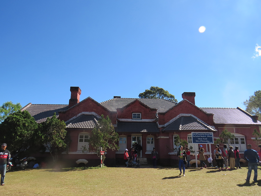 The old Governor's House from the British colonial era is a popular place on the weekend for Kengtung city kids.