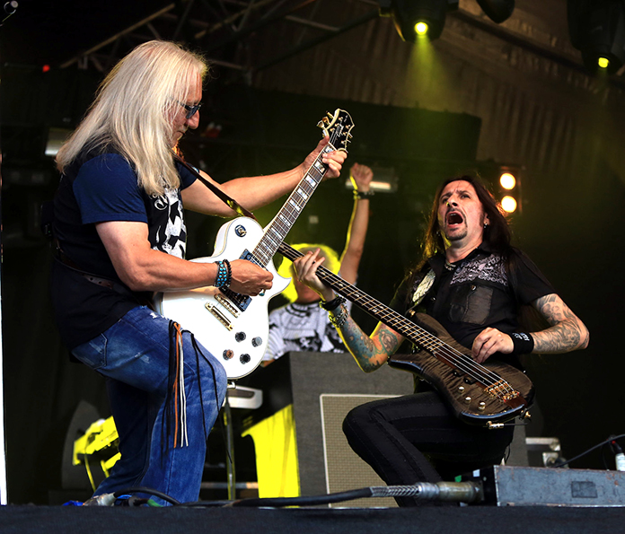 Davey Rimmer and Mick Box of Uriah Heep.