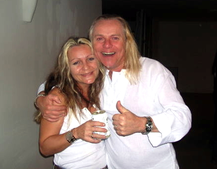 Mistress of the Lens Harpic Bryant (left) with Bernie Shaw of Uriah Heep.