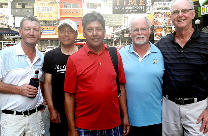 From left: Gary Emmett, Masao Ishikawa, Bahadur Lidder, Dave Johl and Blake Hanna.