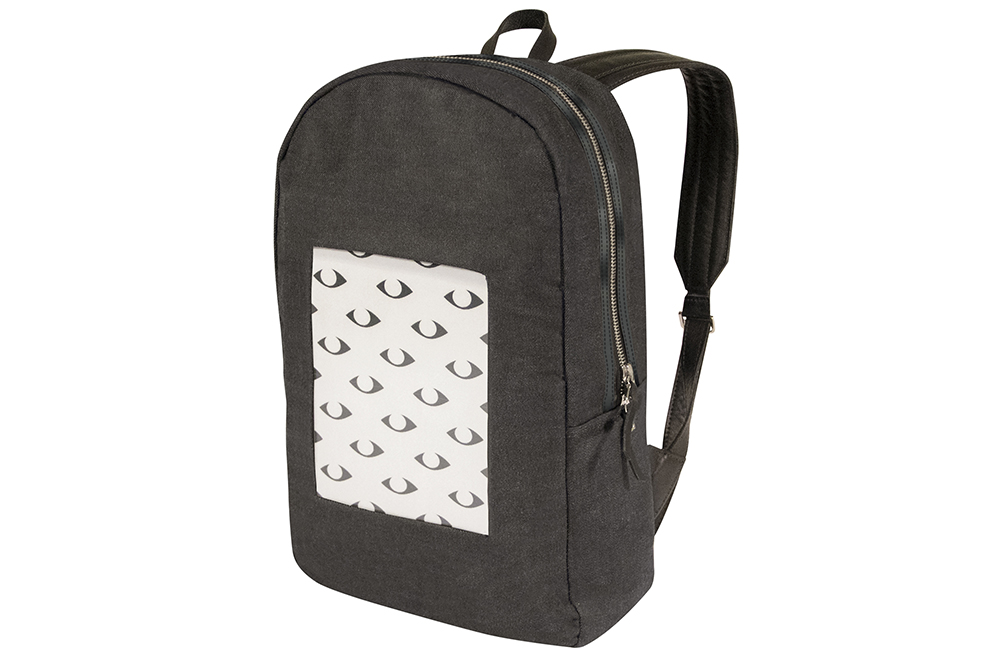 This backpack from POP-I has a built-in digital screen that displays photos you just snapped or something from your photo gallery. (POP-I via AP)