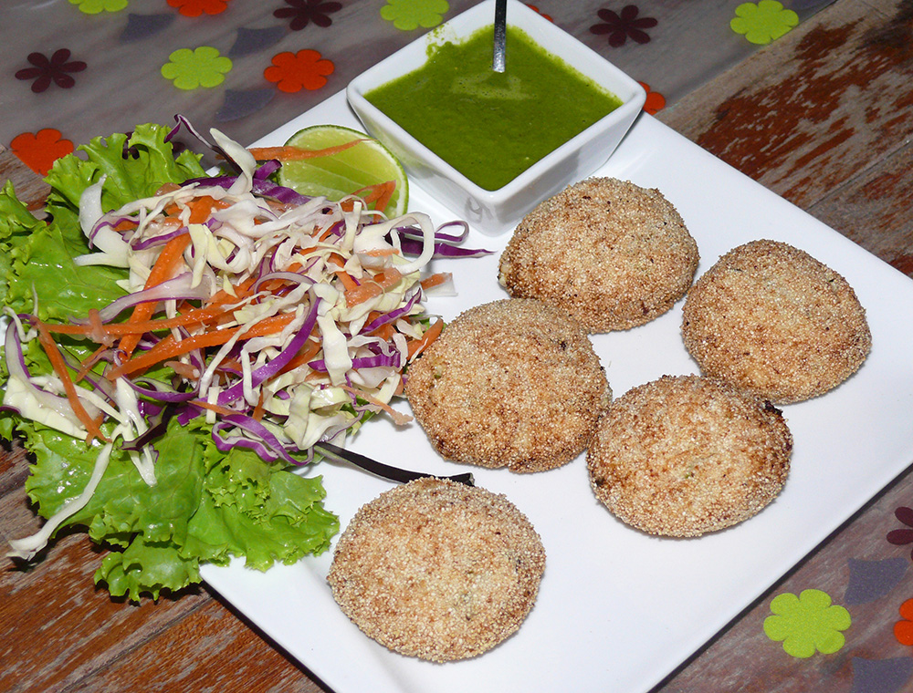 A classic Indian appetizer Dahi ke Kabab, absolutely delicious.