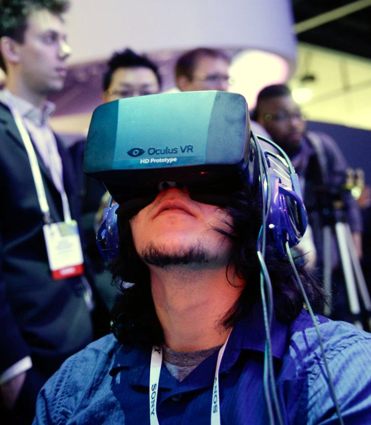 The Oculus Rift headset provides movie goers with a whole new interactive entertainment experience. (AP Photo)