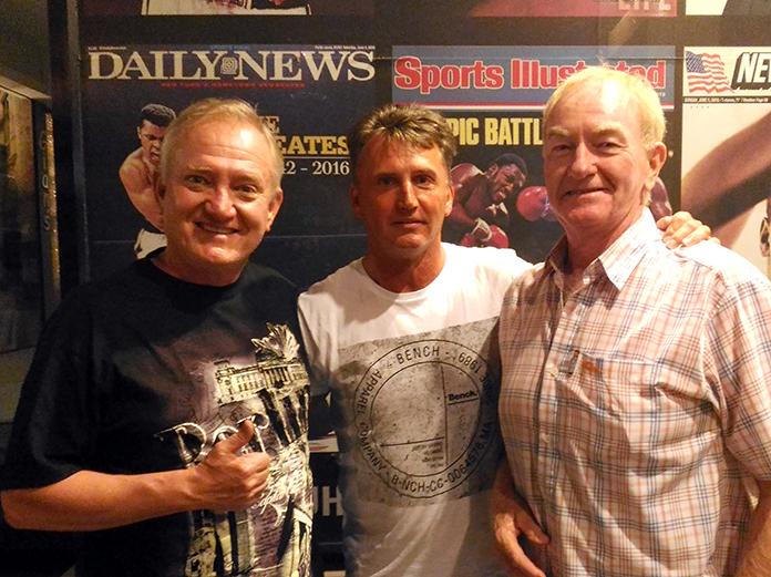 Tony Bless, John Hughes and Paul Young.