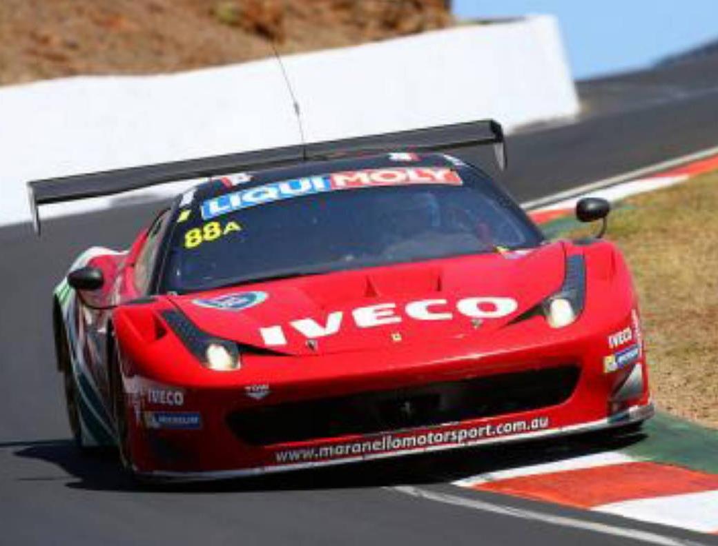 The winning Ferrari.