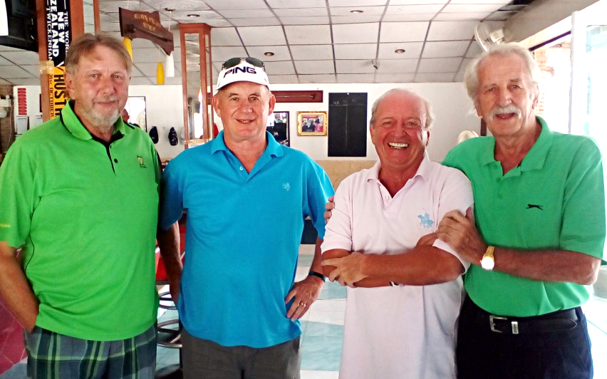 (From left) Peter LeNoury, Warren Miller, Gerard Lambert and William Macey.