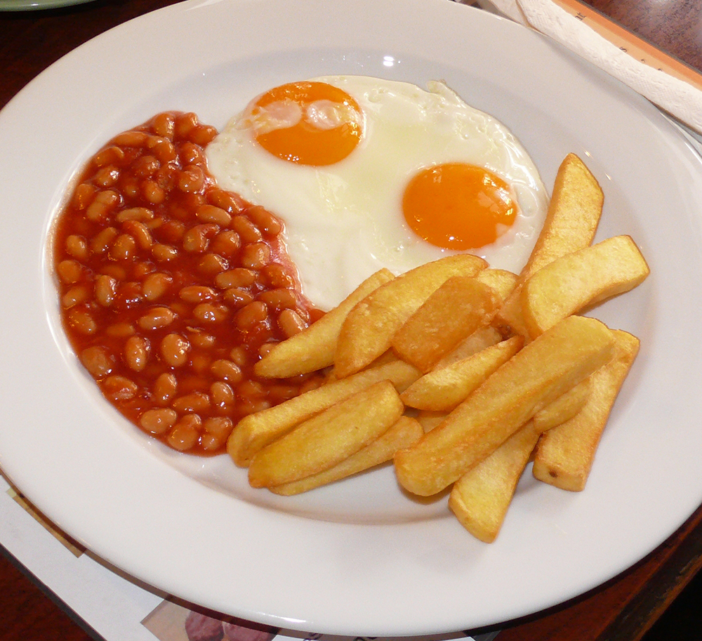 Miss Terry's egg and chips.