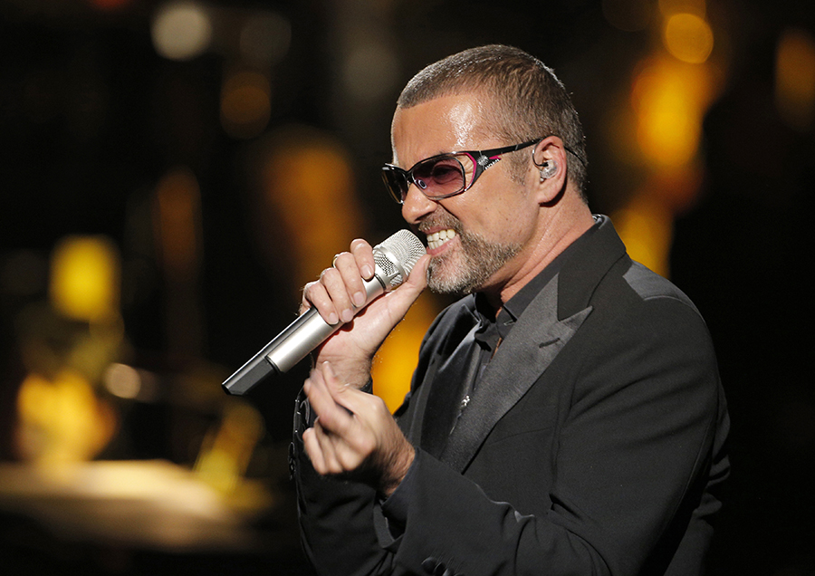 British singer George Michael is shown in this Sept. 9, 2012 file photo. (AP Photo/Francois Mori)