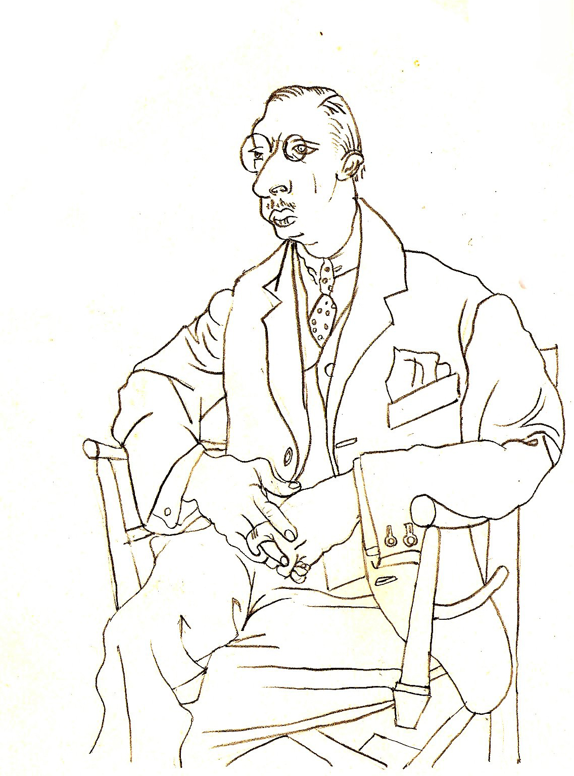 Stravinsky, drawn by Picasso in 1920.