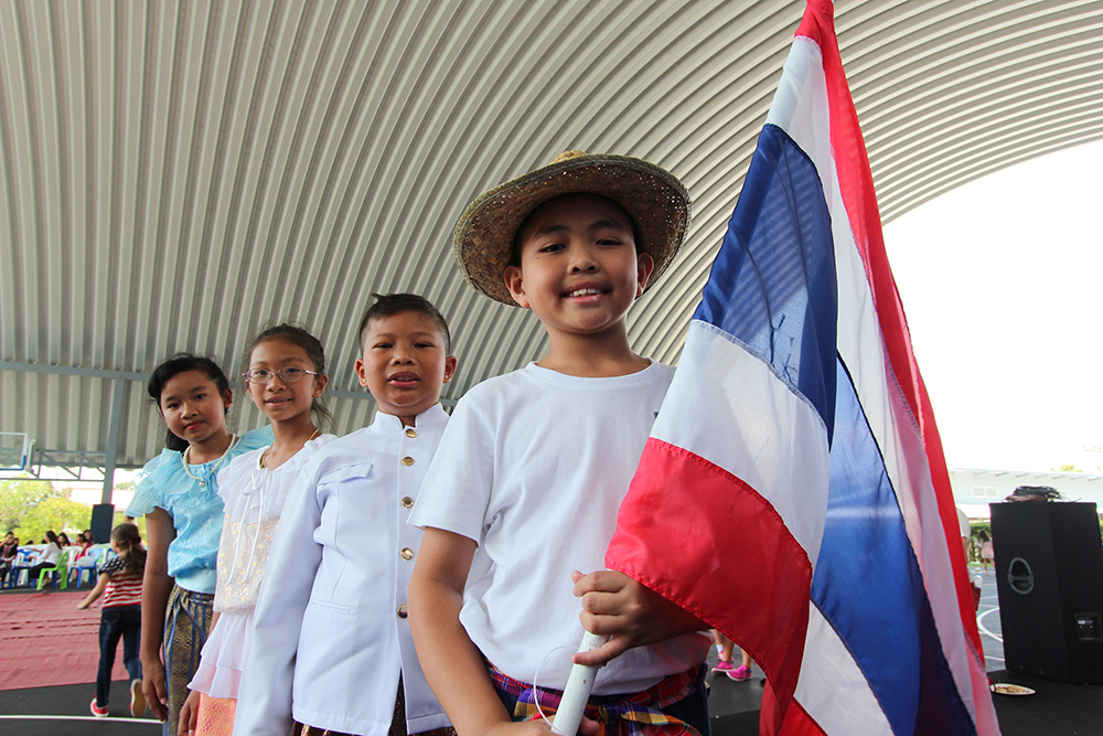 Thai students line up to mark International Day at GIS.