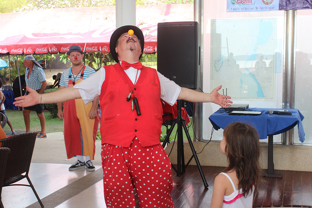 Dr. Penguin wowed the children again, with his magic show.