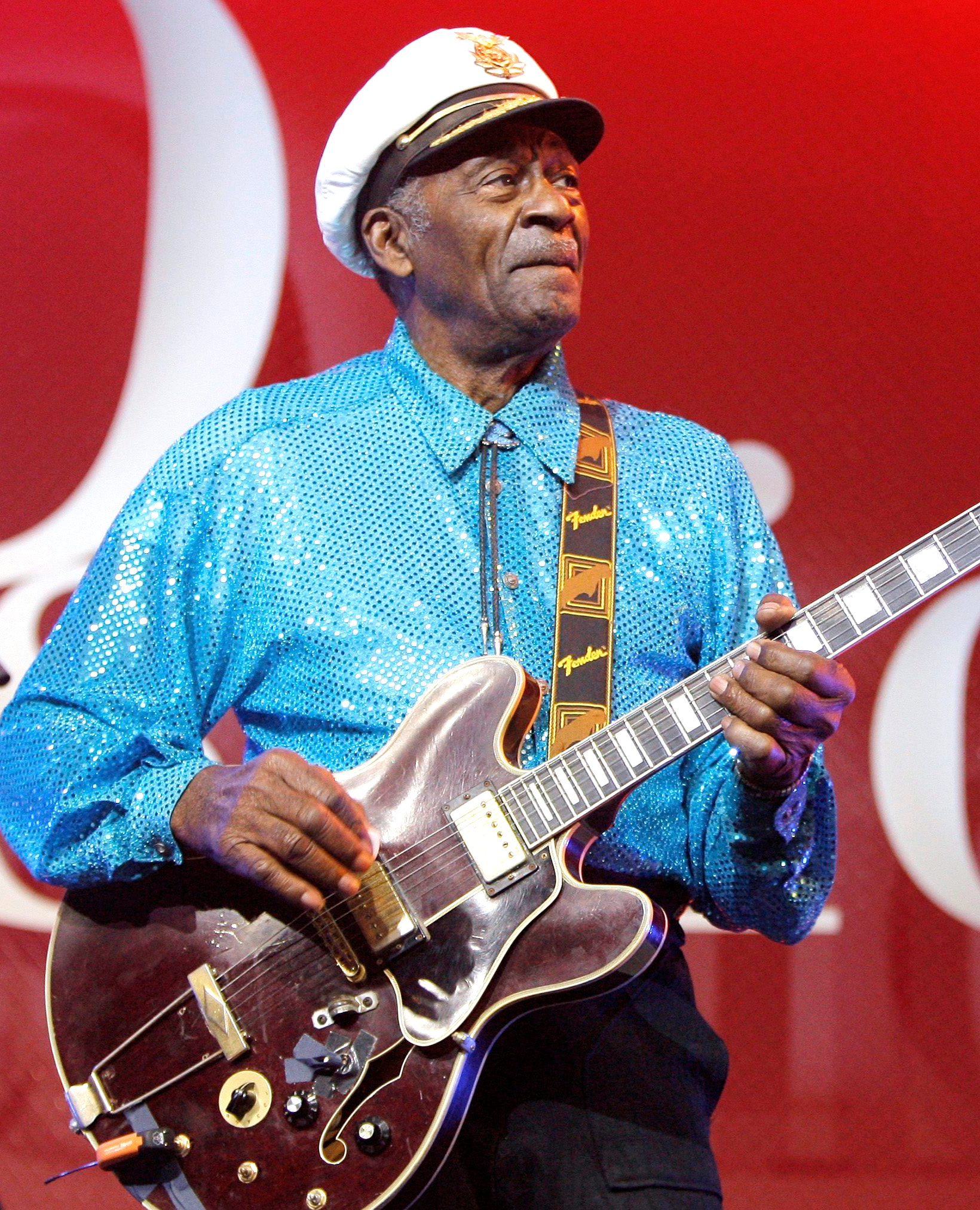 Legendary U.S. musician Chuck Berry is shown in this Nov. 13, 2007 file photo. (Peter Klaunzer/Keystone via AP)