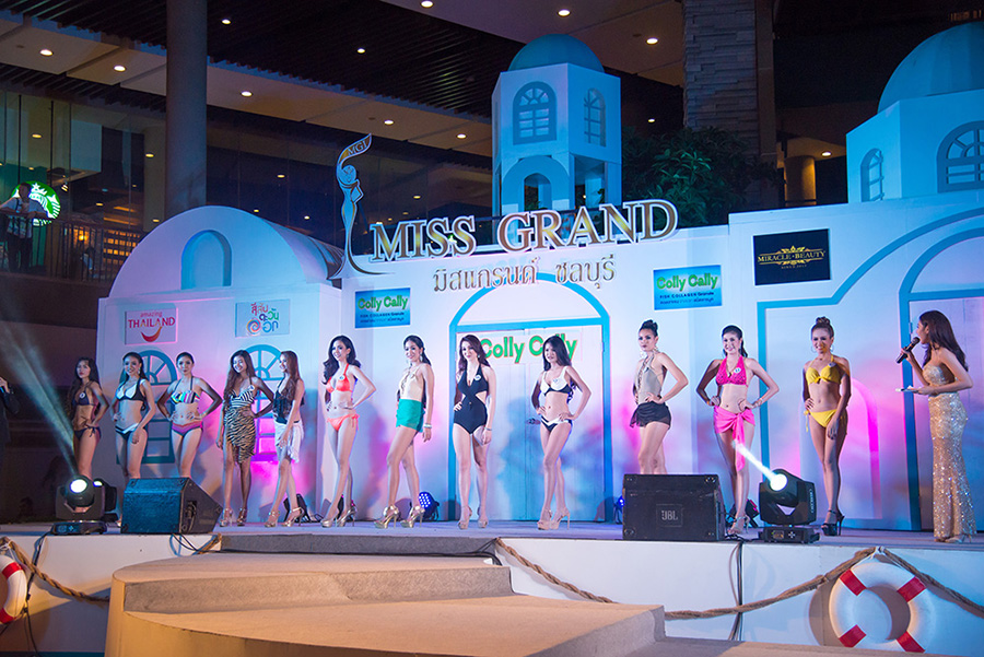 The pageant at Central Festival Pattaya Beach included a swimsuit contest.