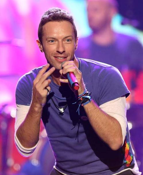 Chris Martin of Coldplay. (AP Photo)