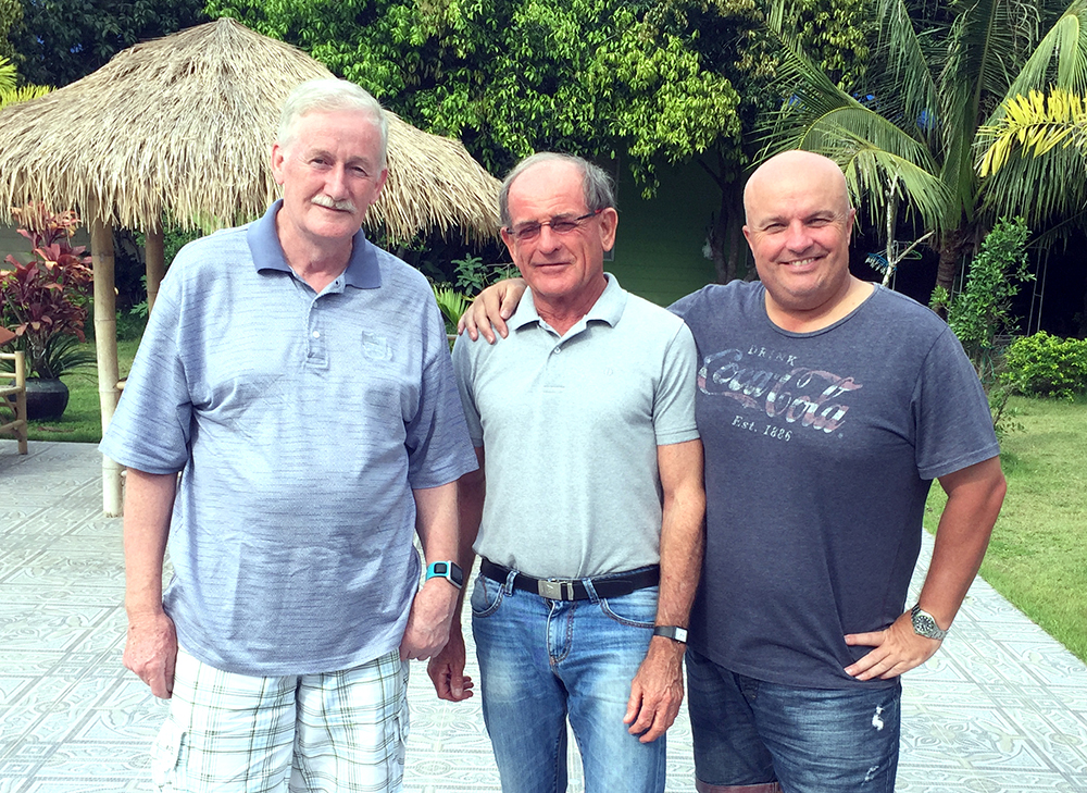 From left: Sam Gettinby, Paddy Devereux and Dave Smith.